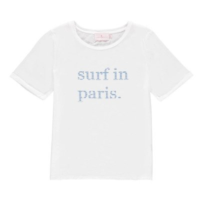 "Cuisse de Grenouille T-Shirt ""Surf In Paris"" Calissonne-listing"