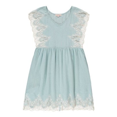 Louise Misha Ongine Embroidered Ruffle Dress - Women's Collection-listing