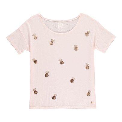 Des petits hauts Ivette Sequin Pineapple T-Shirt-product