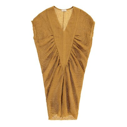 Masscob V-Neck Linen Dress-listing