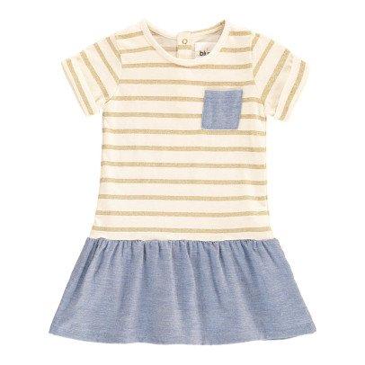 Blune Kids Vestido Rayas Lúrex Chambray Tout Ce Qui Brille -listing