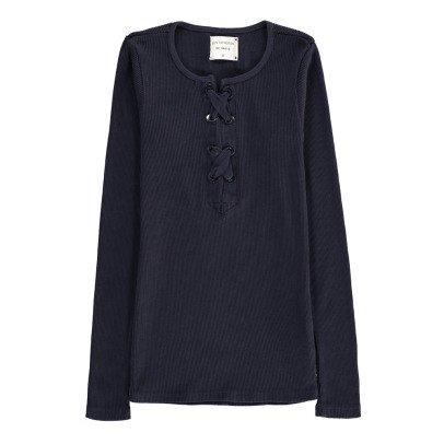 Les coyotes de Paris T-shirt Côtelé Lacé Carmen-listing