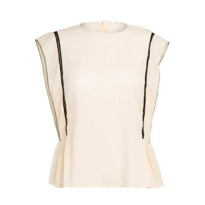 Pomandère Silk and Cotton Sleeveless Top-listing