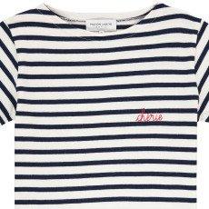 Maison Labiche T-shirt Righe Ricami Chérie-listing