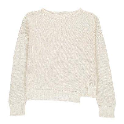 Pomandère Linen and Cotton Round Neck Jumper-listing