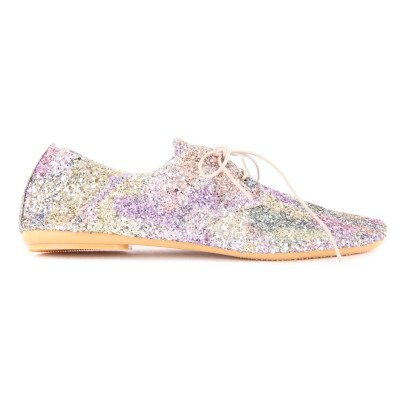 Anniel Glitter Lace-Up Derbies-listing