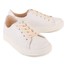 Craie Feather Past Leather Lace-Up Low Top Trainers-listing