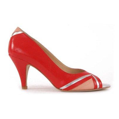 Petite Mendigote Impatience Leather Court Shoes-listing