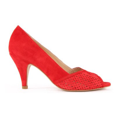 Petite Mendigote Passion Flower Embellished Leather Court Shoes-listing