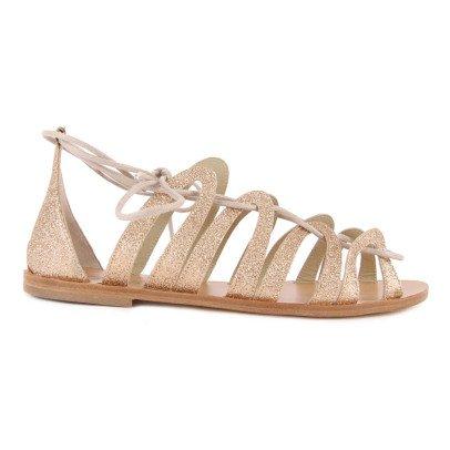 Anniel Glitter Flat T-Bar Shoes-listing