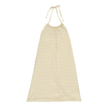 Babe & Tess Striped Bare Back Dress-listing
