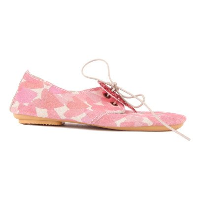 Anniel Hearts All Over + Yoke Leather Derbies-listing
