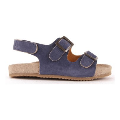Pèpè Double Buckle Nubuck Sandals-listing