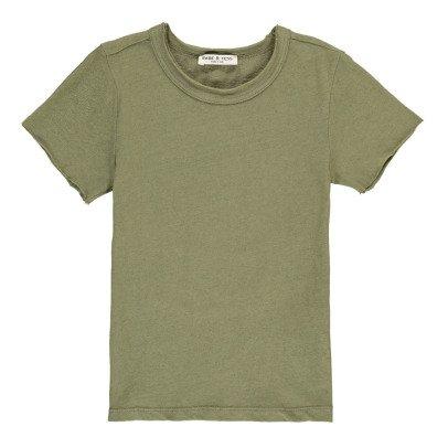 Babe & Tess Franc Raw Edge Sleeve T-Shirt-listing