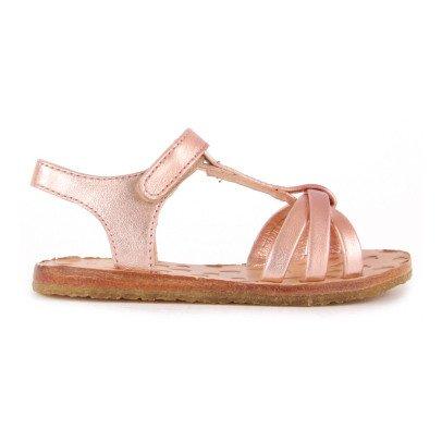 Easy Peasy Lulu Crossed Leather Sandals-listing
