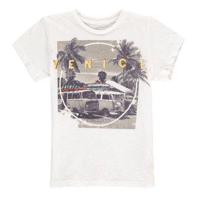 Californian Vintage Beach Bus T-Shirt-listing