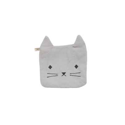 Fabelab Organic Cotton Cat Purse - 10x10cm-listing