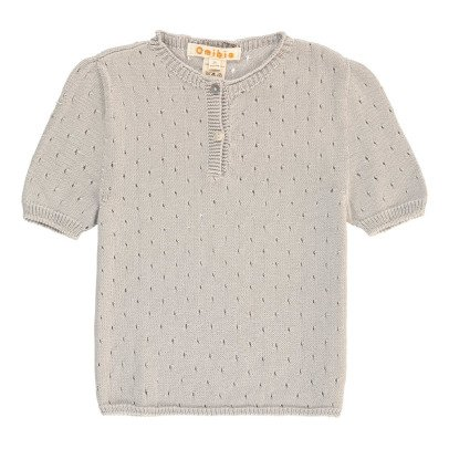 Omibia May Embellished Organic Cotton Short Sleeved Jumper-listing