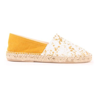 Craie Speckled Leather and Canvas Espadrilles-listing