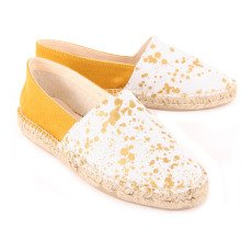 Craie Speckled Leather and Canvas Espadrilles-product