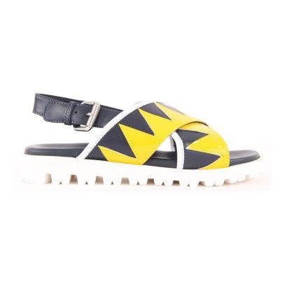 Marni Piuma Crossed Leather Sandals-listing