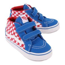 Vans K8 Mid Reissue Checked Velcro Trainers-listing