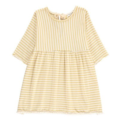 Babe & Tess Bow Back Striped Dress-listing