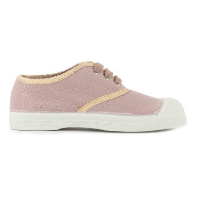 Bensimon Shinypiping Lace-Up Tennis Shoes-listing