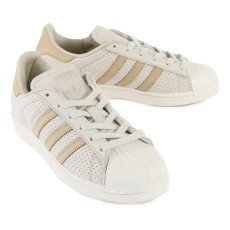 Adidas Superstar Perforated Lace-Up Trainers-listing
