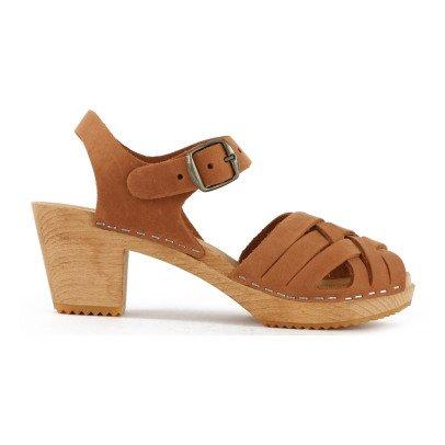 Leon & Harper Stockholm Leather Crossed Sandals-listing