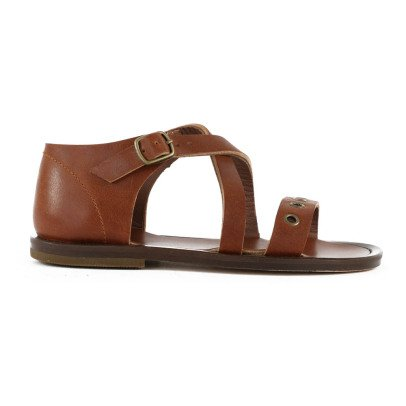 Pèpè Renfort Crossed Leather Sandals-listing