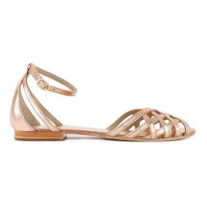 Petite Mendigote Chicory Iridescent Leather Sandals-listing