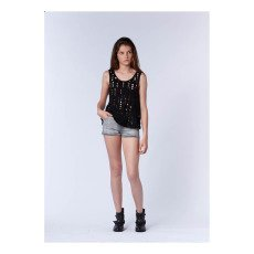 UNE FILLE today I am Embellished Vest Top-listing