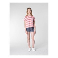 UNE FILLE today I am Striped T-Shirt -listing