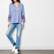 Leon & Harper Calin Embroidered Stripe Blouse-listing