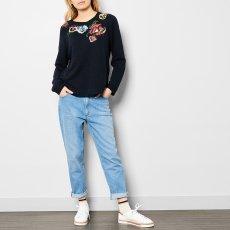Leon & Harper Soprano Embroidered Flower Sweatshirt-listing