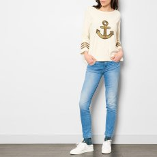 Leon & Harper Thil Lurex Embroidered Ancre T-Shirt-listing