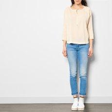 Pomandère Bluse aus Baumwolle und Seide -listing