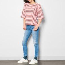 Leon & Harper Tamy Ruffle Striped T-Shirt-listing