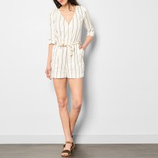 Sessun Taza Striped Linen and Cotton Playsuit-product