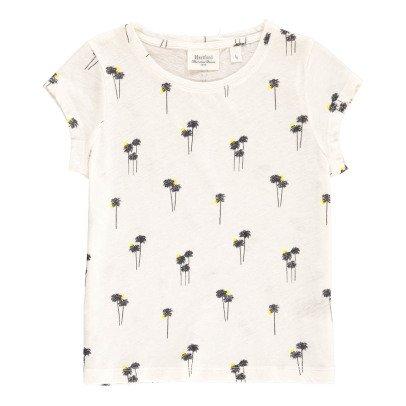 Hartford T-Shirt aus Baumwolle und Leinen Palmen Tropica -listing