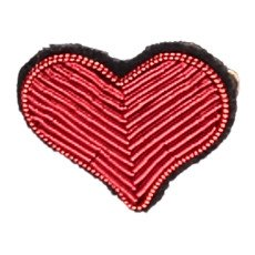 Macon & Lesquoy Hand Embroidered Heart Brooch-listing