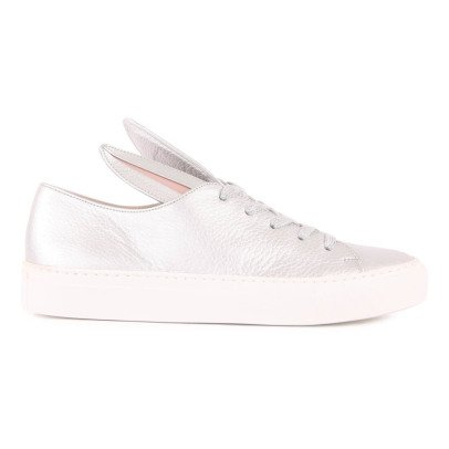 Minna Parikka All Ears Laceup Leather Trainers-listing