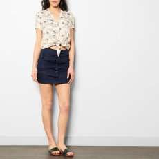 Sessun Maricha Button Up Linen and Cotton Skirt-product