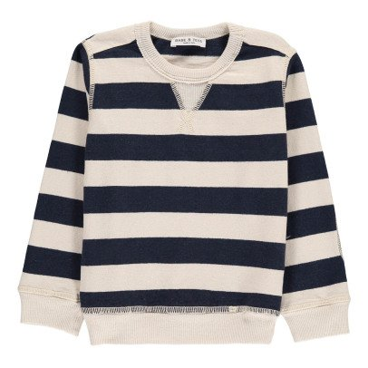 Babe & Tess Camouflage Striped Sweatshirt with Elbow Patch-listing
