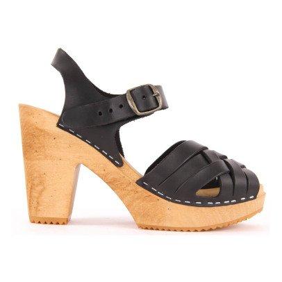 Leon & Harper Koping Leather Crossed Sandals-listing