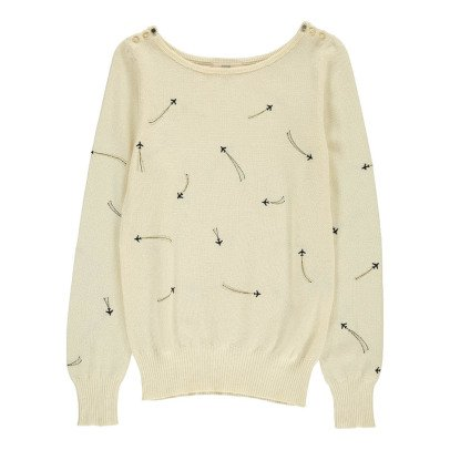 Sessun Hughes Embroidered Aeroplane Jumper-listing