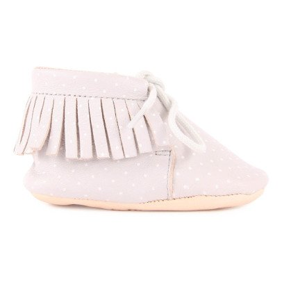 Easy Peasy Chaussons Lacets Cuir Meximoo Print-listing