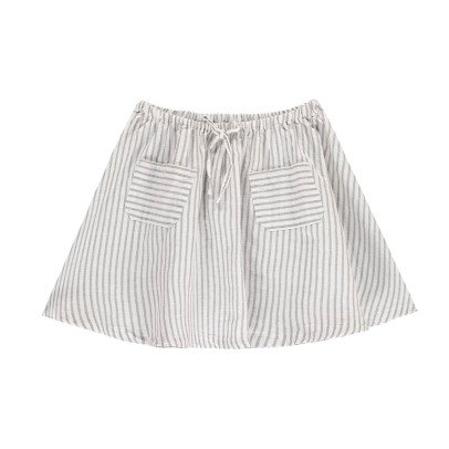 Buho Pipa Striped Linen & Cotton Skirt-listing