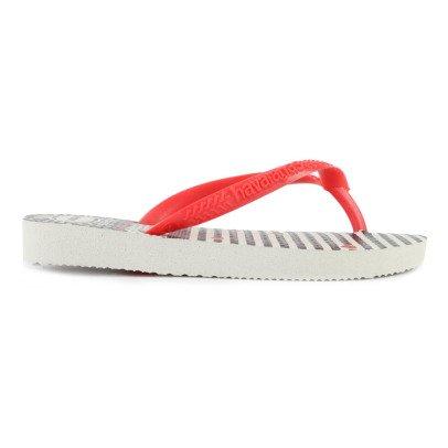 Havaianas Heart and Stripes Narrow Flip Flops-listing